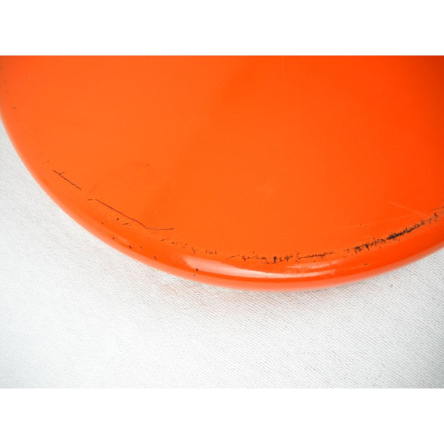 White Op Art Yellow Orange Serving Tray For Sale - Image 8 of 9