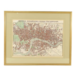 1843 Map of London For Sale