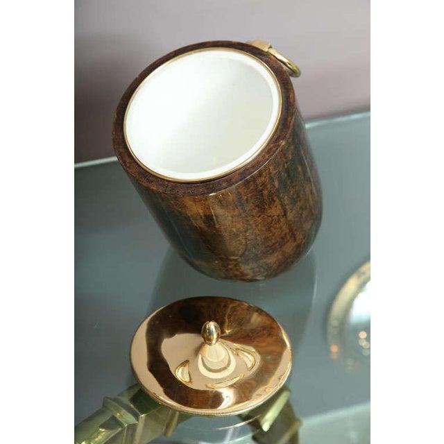 Aldo Tura Goatskin and Brass Tilted Ice Bucket - Image 4 of 9