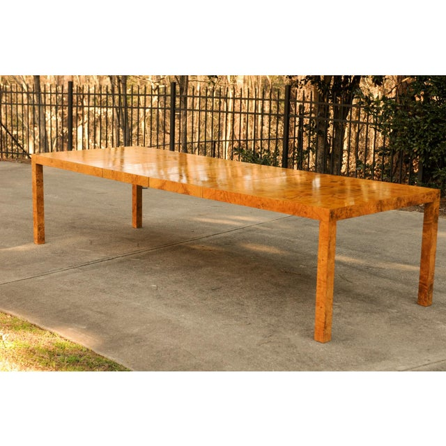 1970s Magnificent Restored Butterfly Patterned Olivewood Dining Table by Milo Baughman for Directional For Sale - Image 5 of 11