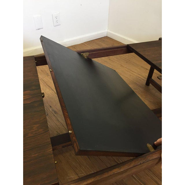 Danish Mid-Century Modern Rosewood Flip Top Coffee Table For Sale - Image 4 of 11