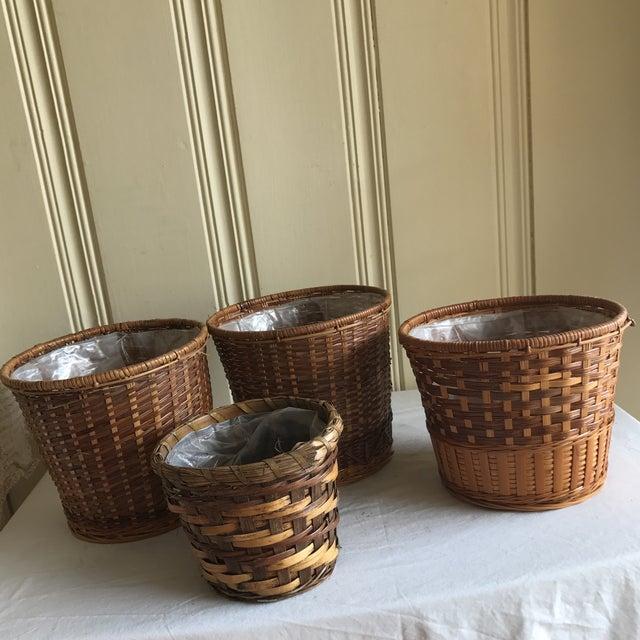 Boho Wicker Plant Vessels - Set of 4 - Image 5 of 6