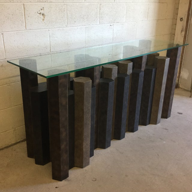 Contemporary Brutalist Style Console Table For Sale - Image 3 of 12
