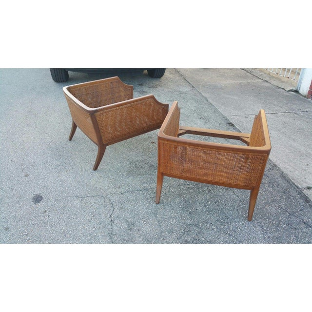 1950s Danish Modern Teak Saber Leg Low Slung Lounge Chairs - a Pair For Sale - Image 9 of 11