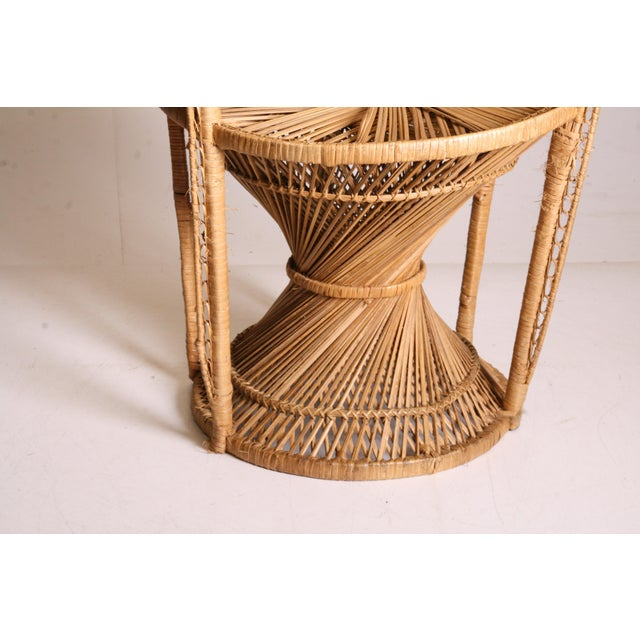Vintage Boho Chic Wicker Peacock Chair For Sale - Image 9 of 11