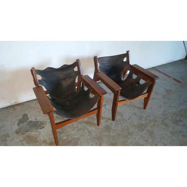 1970s Mid-Century Modern Sergio Rodrigues for Oca Industries Kilin Lounge Chairs - a Pair For Sale In West Palm - Image 6 of 9