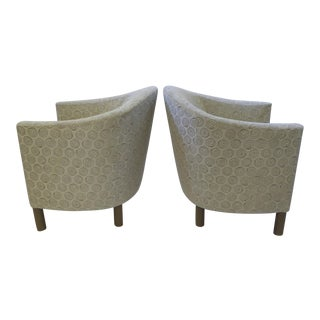 In the Style of Milo Baughman, Pair of Tub Chairs by Brayton International 1970s.