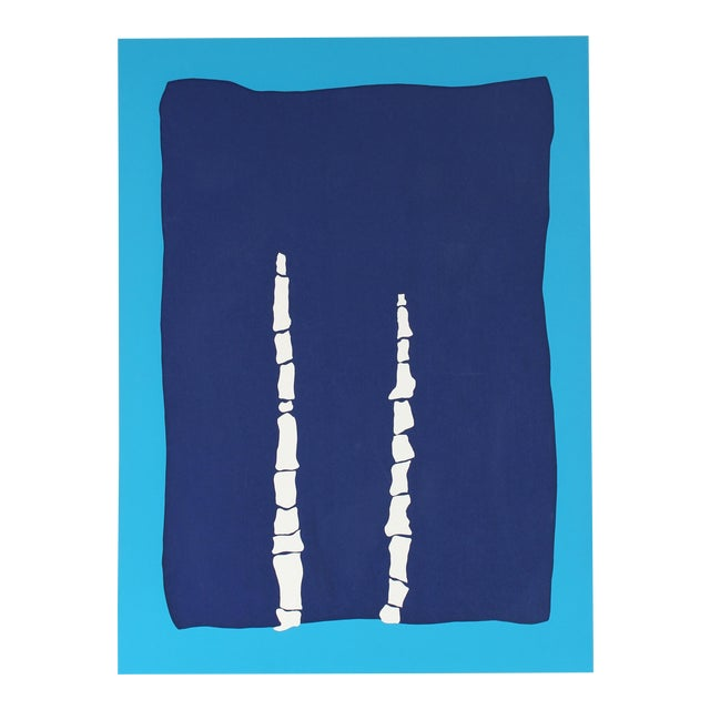"""Gwen Stone """"Toys in Blue"""" Abstract Serigraph on Paper Late 20th Century For Sale"""