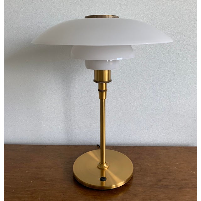 2000 - 2009 Mid-Century Modern Poul Henningsen Table Lamp With Brass Finish For Sale - Image 5 of 5