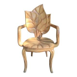 1970s Vintage Art Nouveau Leaf Chair For Sale