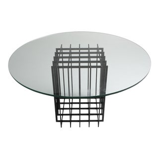 Pierre Cardin Sculptural Table in Glass and Metal For Sale