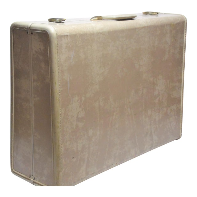 Vintage Samsonite Large Cream Hard Shell Suitcase - Image 1 of 7
