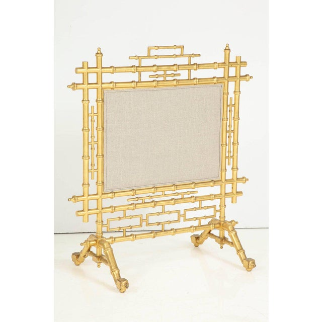 1970s Faux Bamboo Fireplace Screen For Sale In New York - Image 6 of 11