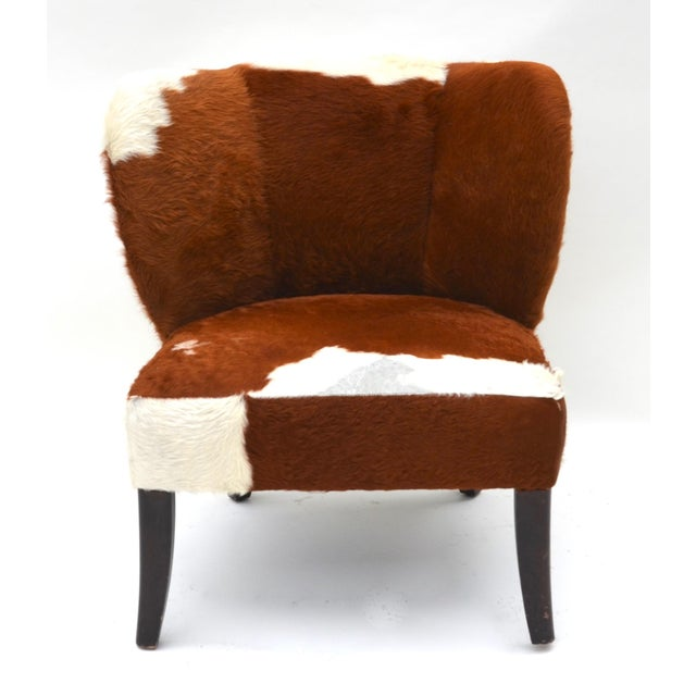 1950s Vintage Cowhide Chair For Sale - Image 5 of 9