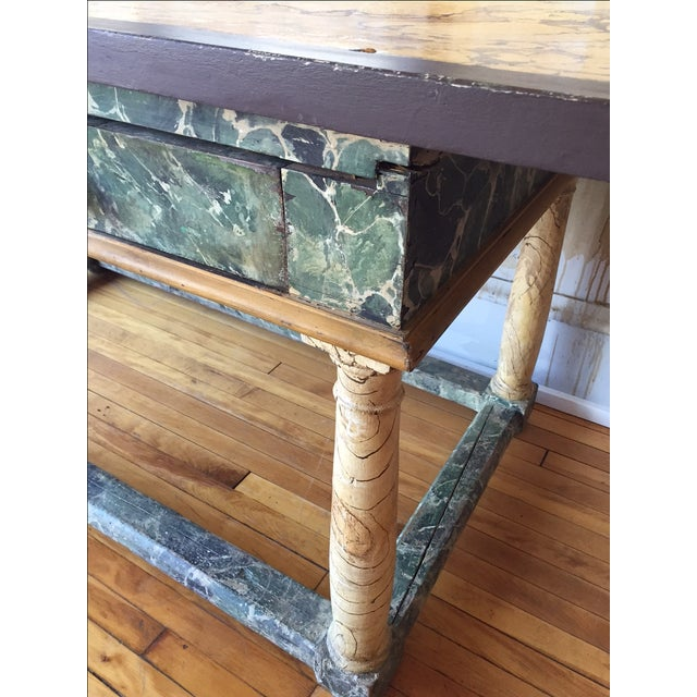 Painted Italian Antique Table For Sale - Image 7 of 10
