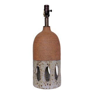Contemporary Lavender Glazed Ceramic Table Lamp For Sale