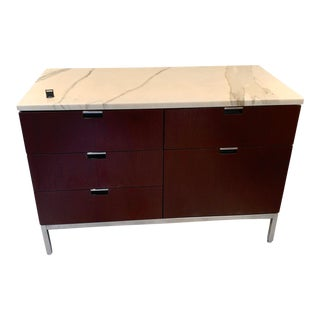 "Knoll ""Florence"" Office Credenza With Calacatta Borghini Marble Top For Sale"