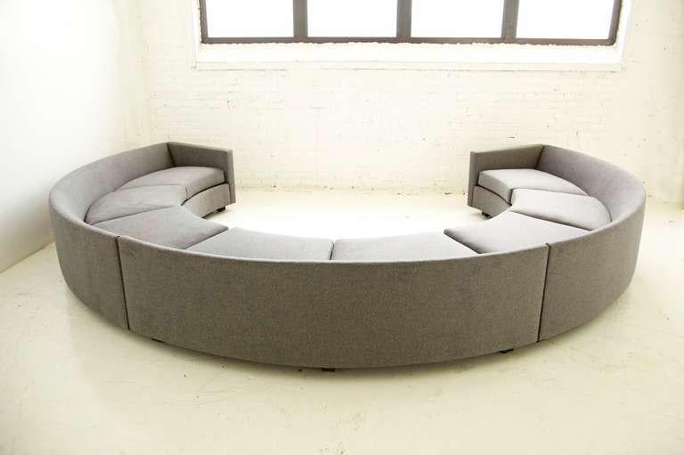 Mid Century Modern Milo Baughman Curved Sectional For Sale   Image 3 Of 10