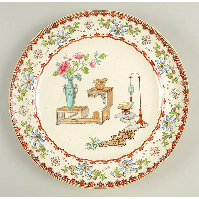 Late 19th Century Spode Canton Dinner Plate - Set of 8 For Sale - Image 5 of 9