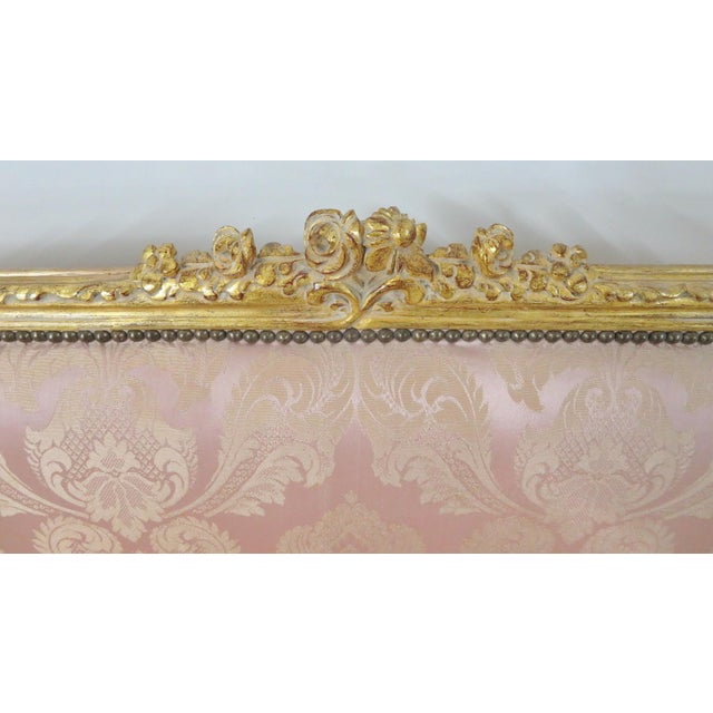 Louis XV Style Gold Gilt Sofa For Sale - Image 11 of 12