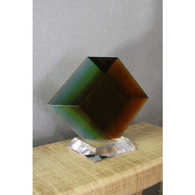 Haziza Acrylic Colorful Geometric Sculpture - Image 4 of 9