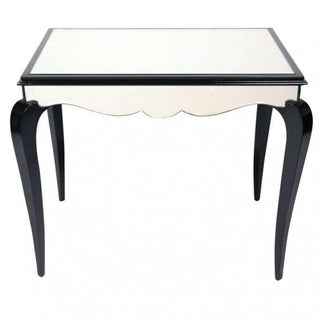 Art Deco Dominique-Style Mirrored Table For Sale