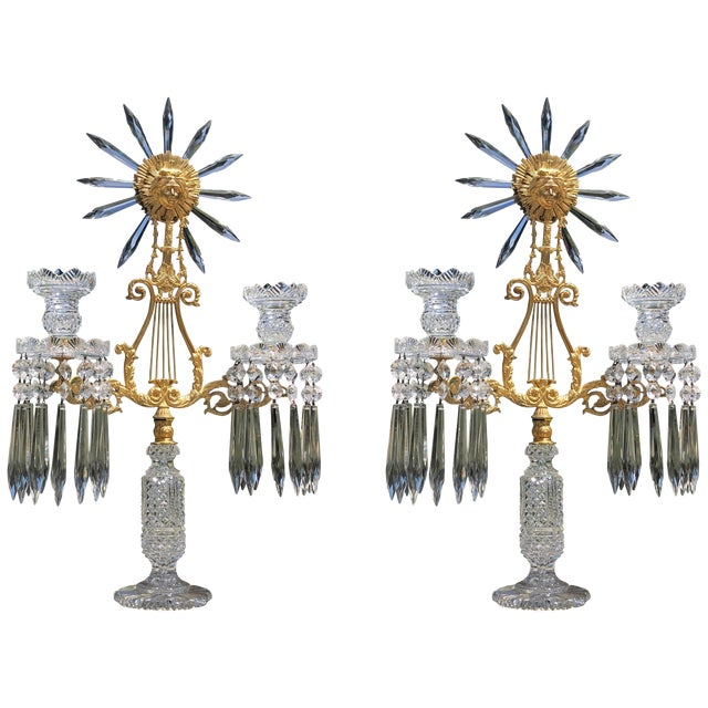 Pair of Regency Candelabra For Sale