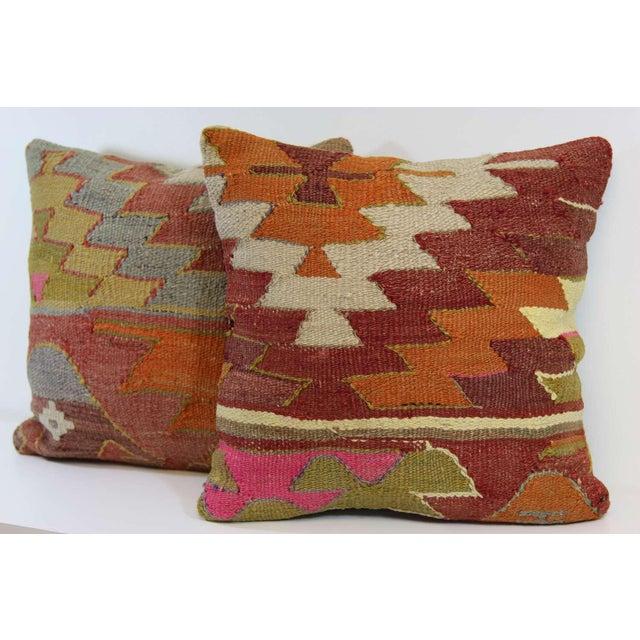Turkish Kilim Pillow - A Pair - Image 4 of 7