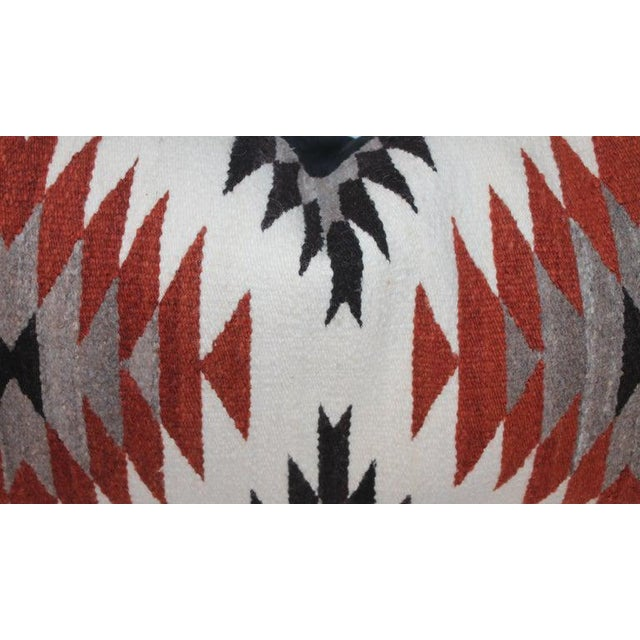 Navajo Indian Weaving Saddle Blanket Pillows - Set of 2 For Sale In Los Angeles - Image 6 of 9