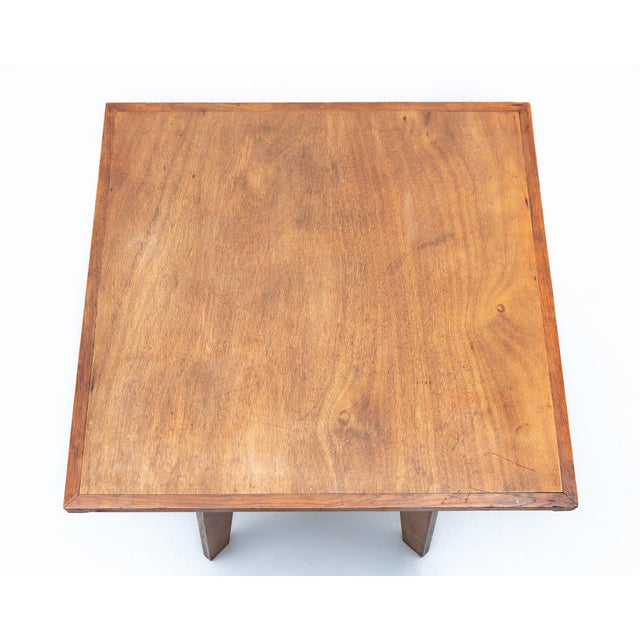 Mahogany Lovely French Table in the Style of Prouve, France, 1950s. For Sale - Image 7 of 8