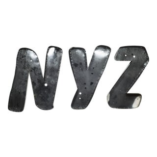 """Large Vintage Channel Letters """"Nyz"""" Circa 1950s-Price Is Per Item. For Sale"""
