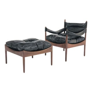 "Kristian Vedel ""Modus"" Easy Chair & Ottoman For Sale"