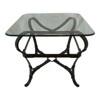 Iron Faux Leather Strap Side Table Hermès Like