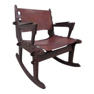 Don Shoemaker Style Primitive Rocking Chair For Sale