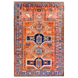 Wonderful Early 20th Century Kazak Prayer Rug For Sale