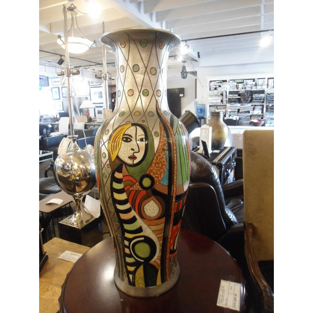 "Ceramic ""Girl Before a Mirror"" Picasso Vase For Sale - Image 7 of 7"
