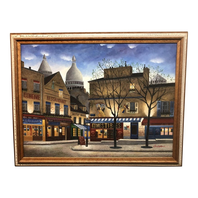 Large Scale Paris City Scene, Original Artwork For Sale