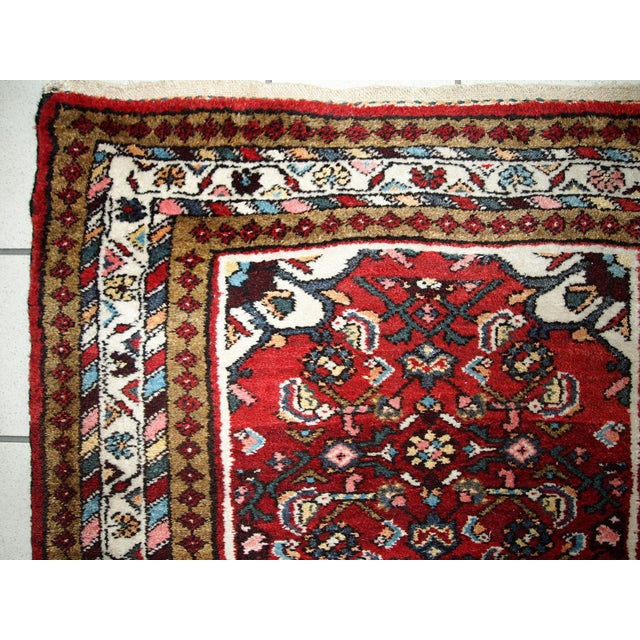 White Vintage Persian Hamadan Runner- 2′7″ × 7′ For Sale - Image 8 of 10