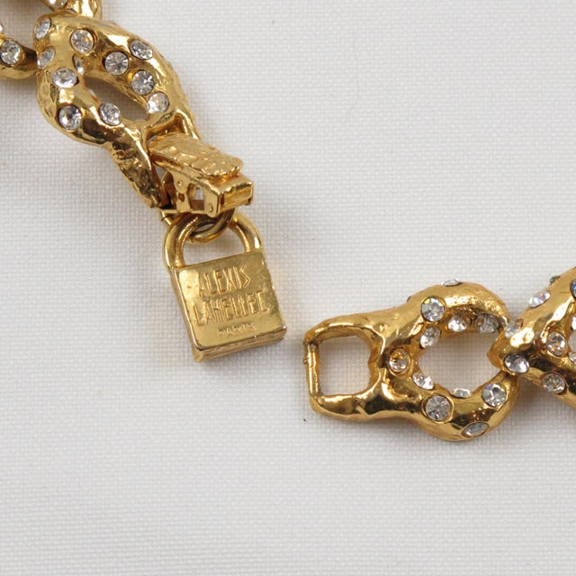 Metal French Designer Alexis Lahellec Paris Signed Jeweled Choker Necklace For Sale - Image 7 of 8