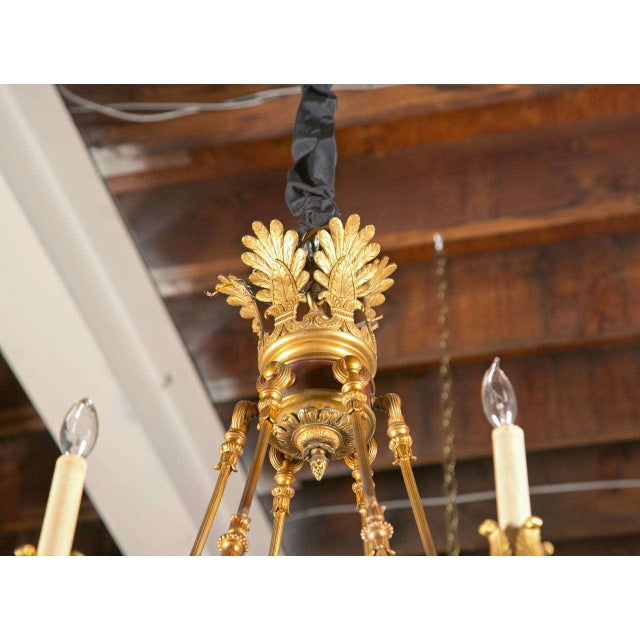 19th-Century French Empire Chandelier - Image 6 of 7