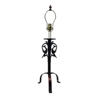Chinoiserie Birds Lamp For Sale