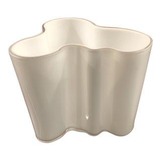 Iittala Aalto Savoy White Glass Vase For Sale