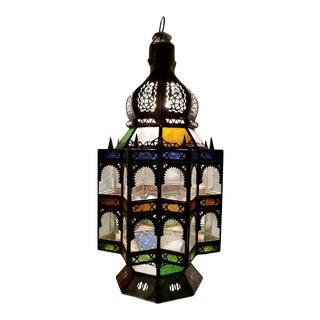 Moroccan Rustic Lantern Chandelier For Sale
