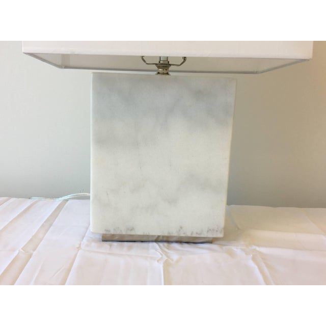 Metal Ralph Lauren Marble Lamp With Shade For Sale - Image 7 of 9