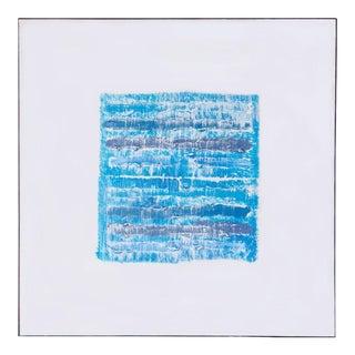 "Modern ""Blue Strata Pattern: Stockholm"" Original Painting by Len Klikunas For Sale"