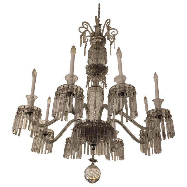 Antique Eight Arm Crystal Chandelier - Image 1 of 11
