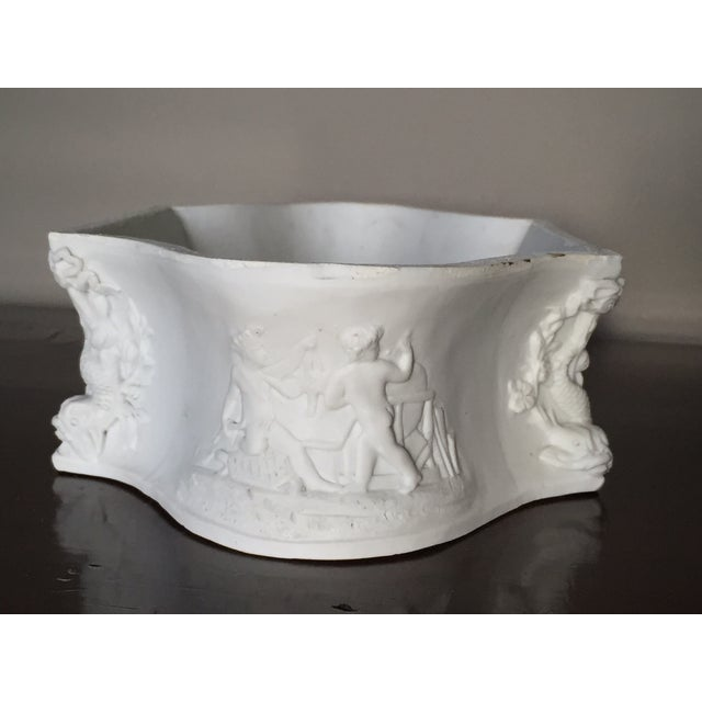Rectangular White Bisque Floral Tray - Image 4 of 9