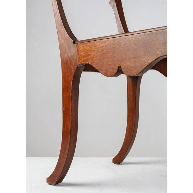 Ole Peter Momme Oak and Cane Klismos Chair, Denmark, 1880s - Image 7 of 10