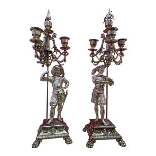 Antique French Louis XV's Candelabras - a Pair For Sale