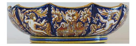 1865 Antique Gien French Renaissance Revival Faience Earthenware Scalloped Bowl  sc 1 st  Chairish & Motton De Gien-Rouard French Faience-6 Place Settings-48 Pieces ...